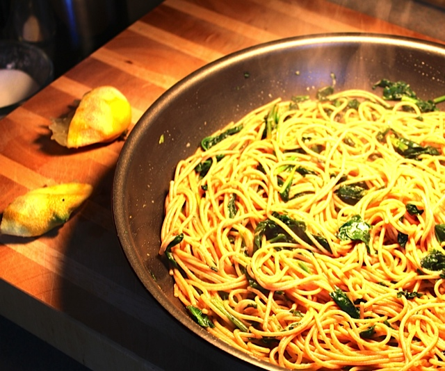 Aglio e Olio with Lemon
