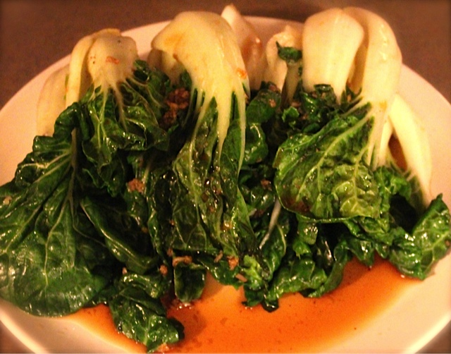 Japanese Inspired Bok Choy with an Italian Twist!