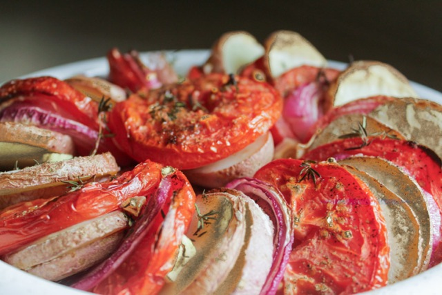 Layered Vegetable Bake with Fresh Thyme