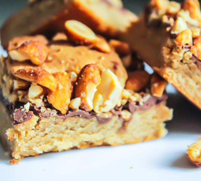 Peanut butter and nutella bar