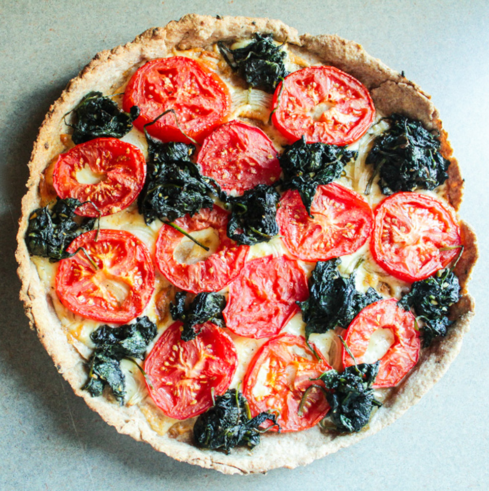 Tomato and Spinach Tart