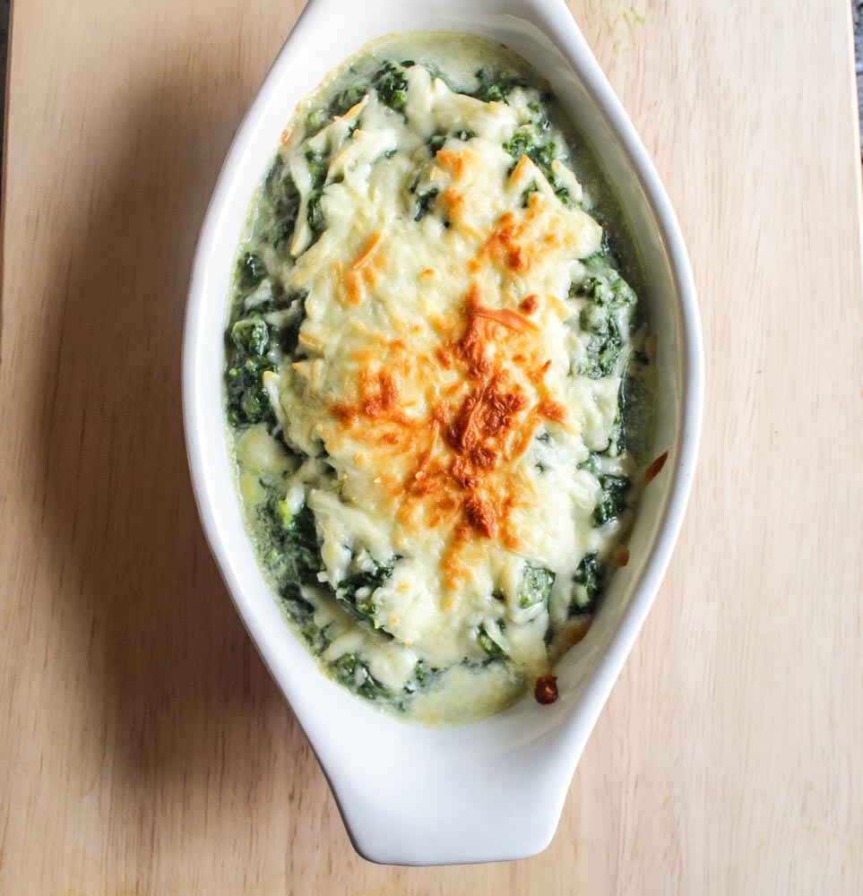cauliflower cream spinach