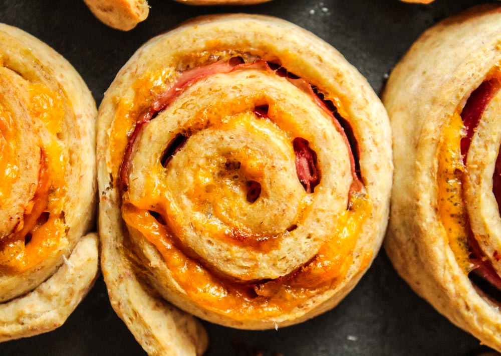 healthy ham and cheese roll ups_