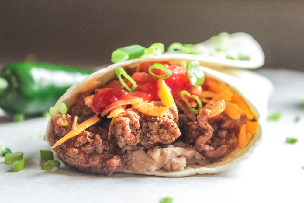 Beef and Bean Burritos - Lisa G Cooks